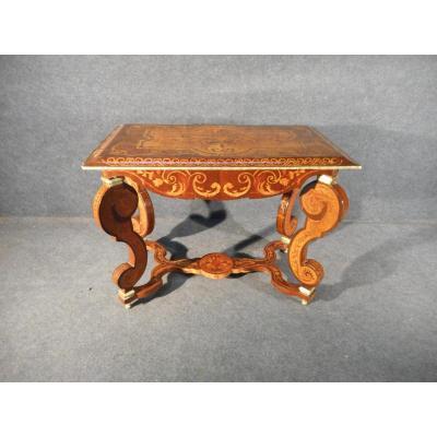 Table XIXe Hollandaise En Marqueterie