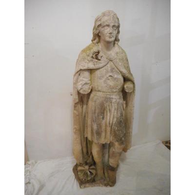 Statue Personnage En Pierre époque XVIIIème