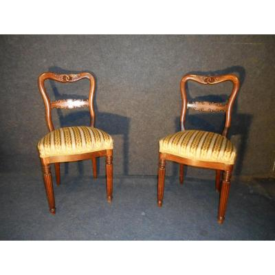 Pair Of Chairs Charles X Stamped Marcus