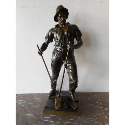 Large Statue In Bronze XIXth Century Signed Schnauder Reinhard 1856-1923