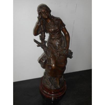Statue En Bronze époque XIXe Signé Auguste Moreau