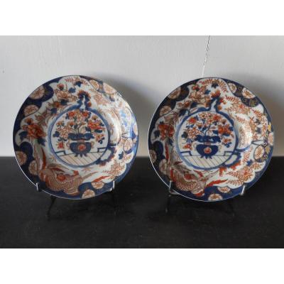 Paire Assiettes Chine époque XVIIIème
