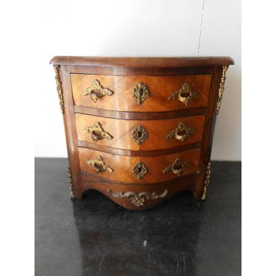 Commode Master Marquetry And Gilt Bronze Nineteenth Time