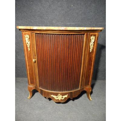 Corner In Marquetry And Gilt Bronze Nineteenth Time