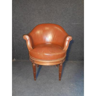 Rotating Office Chair Louis XVI Nineteenth Time