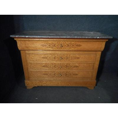 Commode Bureau époque Charles X En Sycomore