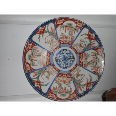 Very Large Flat Imari Time End Of The Nineteenth Century
