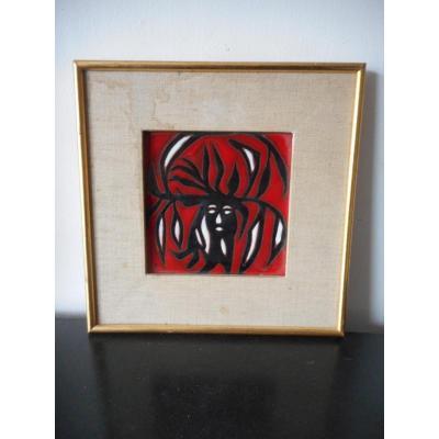 Carreau en céramique de Jean Lurcat (1892-1966)