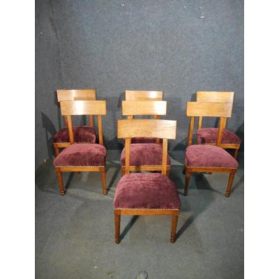 Series Of Mahogany Chairs Blond Empire Time Stamped The Barn