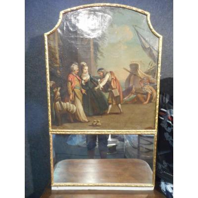 Trumeau époque Début XVIIIe Scène De Genre