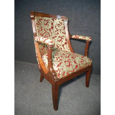 Mahogany Office Chair Stamped Jacob Desmalter