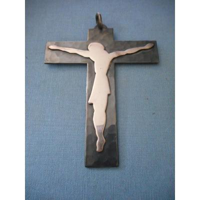 Hammered Crucifix By Jean Despres (1889-1990)