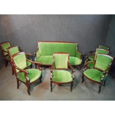 Cuban Mahogany Restoration Period Living Room Set