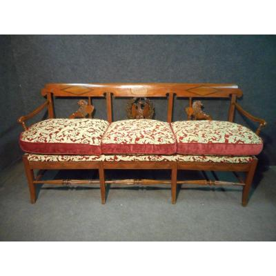 Empire Period Bench In Cherry Signed And Dated