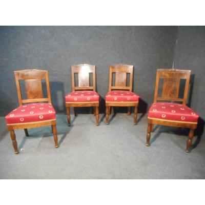 Series Of Chairs Empire Period In Mahogany