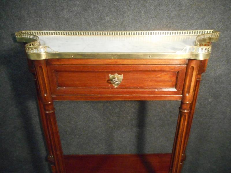 Console mouvementée En Acajou Et Bronze Doré époque Début XIXe-photo-4