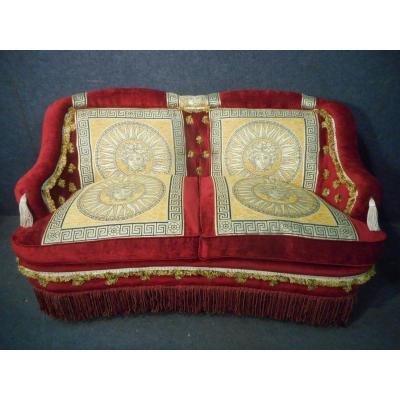 Canapé époque Napoléon III En Velours