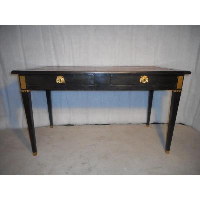 Black Lacquer And Gilt Bronze Desk Directoire Period