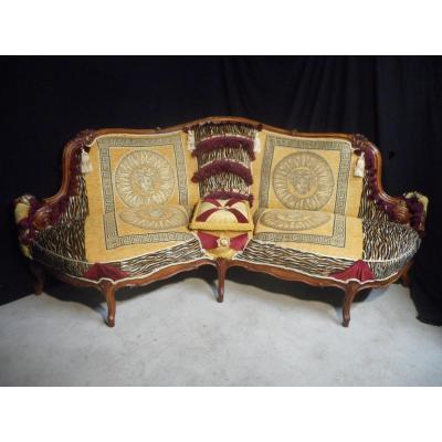 Canapé De Fumeur Galbé époque XIXe