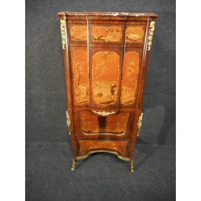 Secretaire En Marqueterie Et Bronze Doré époque XIX