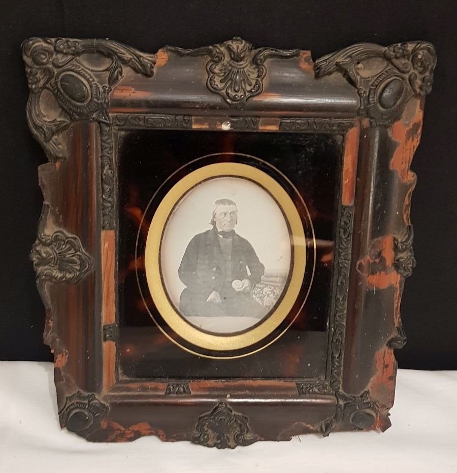 Daguerréotype Photographie Portrait d'Un Homme, époque 19ème