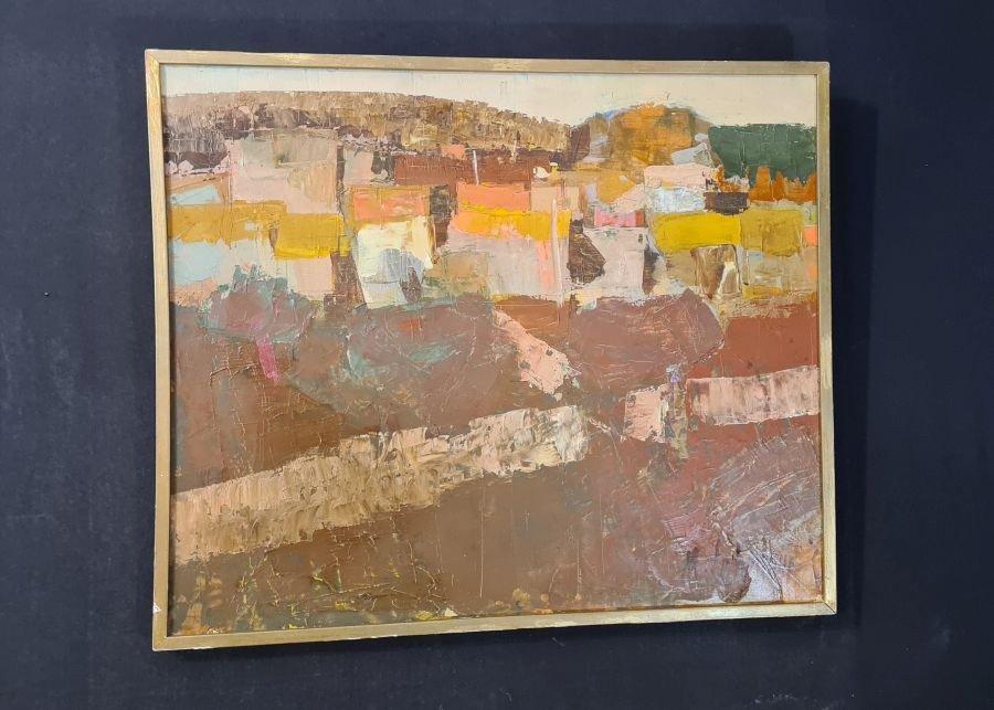 Tableau Abstrait Par Maurice Le Nestour (1923-2014)