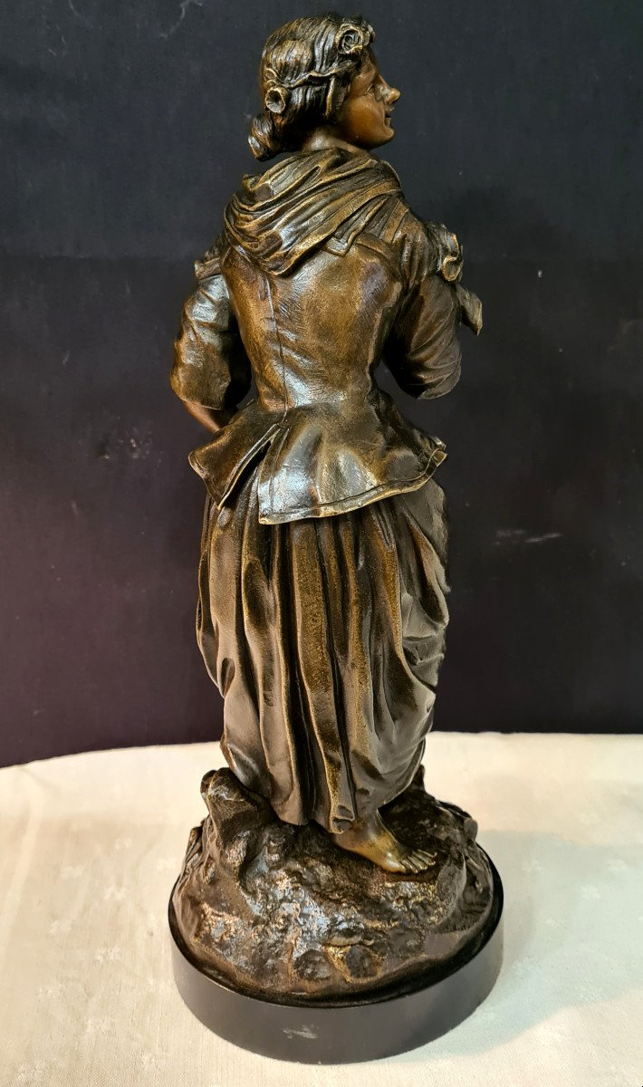 Femme à l'Arrosoir, Bronze Emile Victor Blavier XIXe-photo-4