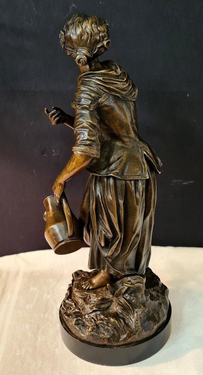 Femme à l'Arrosoir, Bronze Emile Victor Blavier XIXe-photo-1