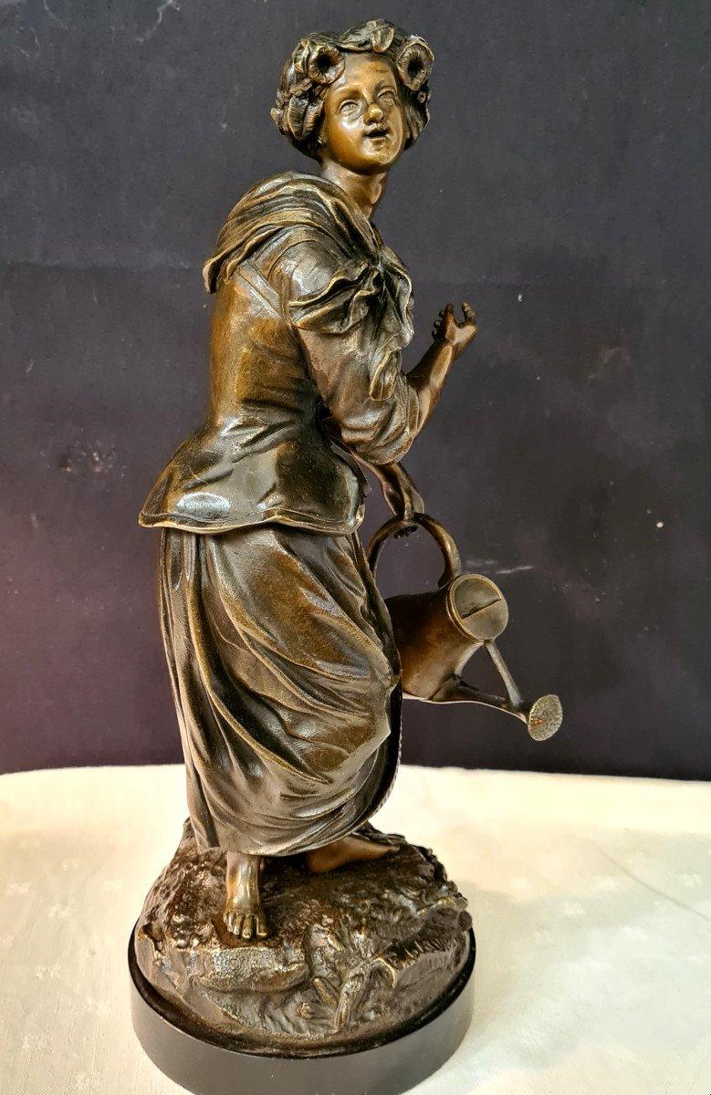 Femme à l'Arrosoir, Bronze Emile Victor Blavier XIXe-photo-2