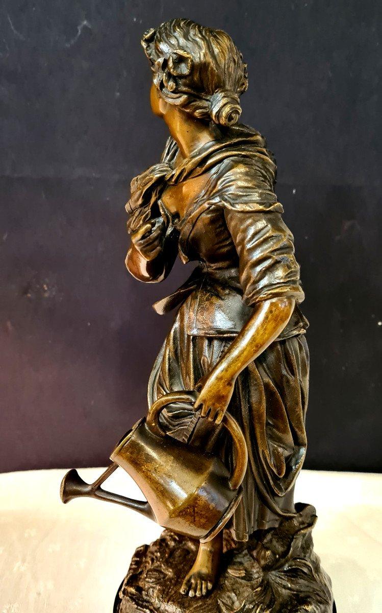 Femme à l'Arrosoir, Bronze Emile Victor Blavier XIXe-photo-3