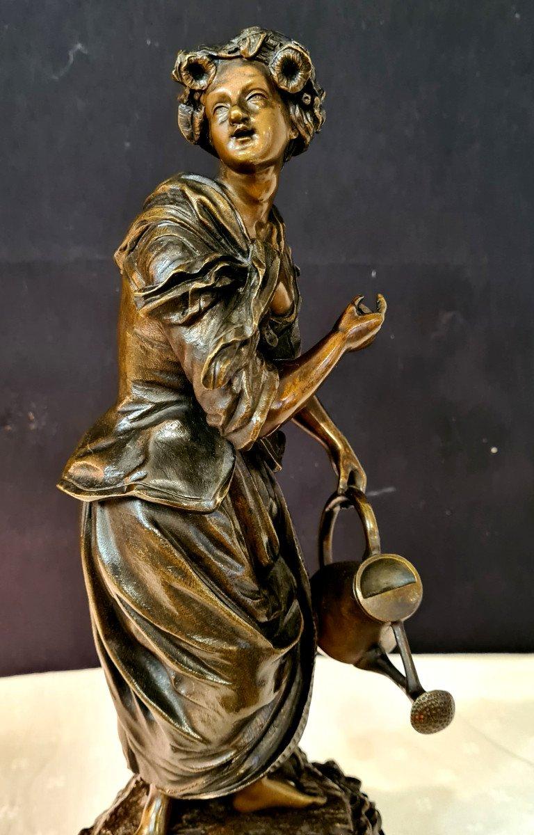 Femme à l'Arrosoir, Bronze Emile Victor Blavier XIXe-photo-5