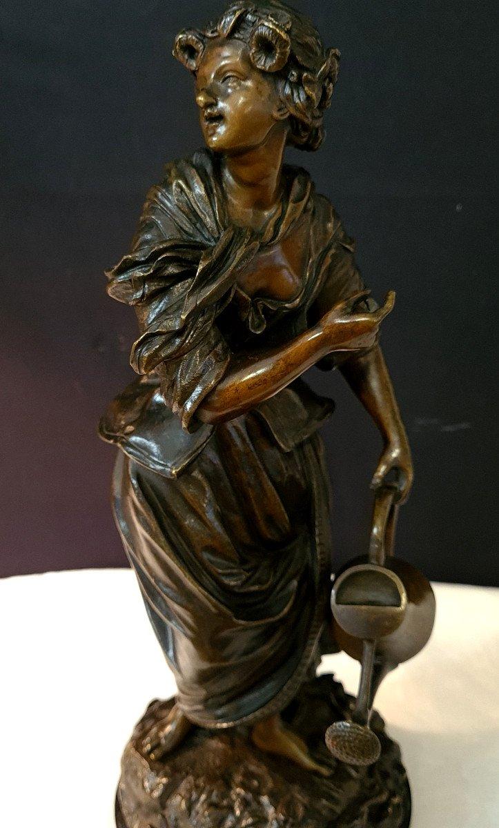 Femme à l'Arrosoir, Bronze Emile Victor Blavier XIXe-photo-7