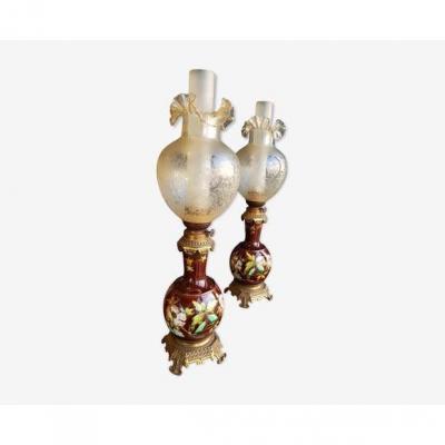 Paire De Lampes Art Nouveau