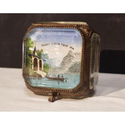 Petit Coffret à Bijoux  Village Suisse 1900