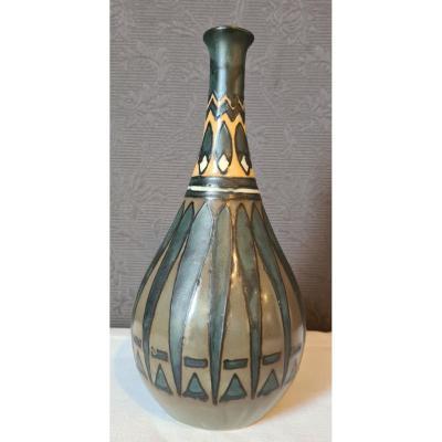 Vase Art Déco Hb Quimper Odetta