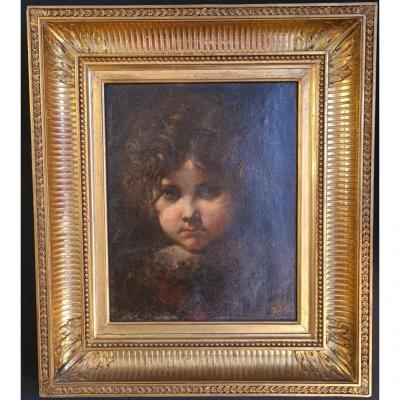 Tableau Portrait d'Enfant De François Louis Lanfant De Metz