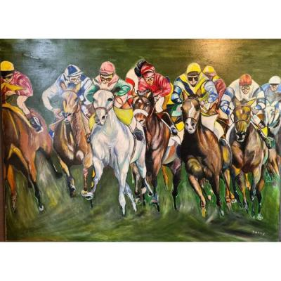 Contemporary Table XXth Couse Of Horses