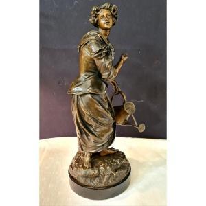 Femme à l'Arrosoir, Bronze Emile Victor Blavier XIXe