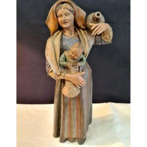 Young Woman In Terracotta Nineteenth