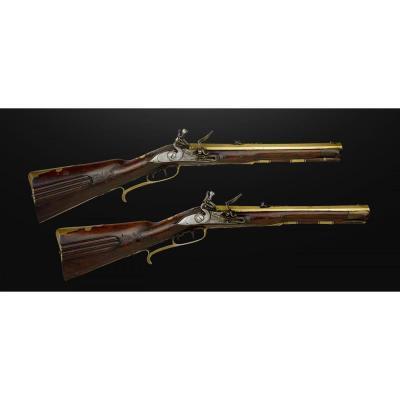 Paire De Carabines Autrichienne 1740, Cal 40