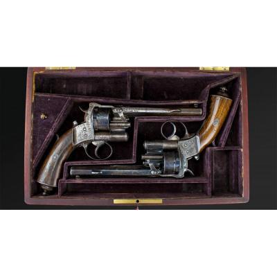 Paire Des Revolvers Mle 1858 Lepage Moutier A Paris