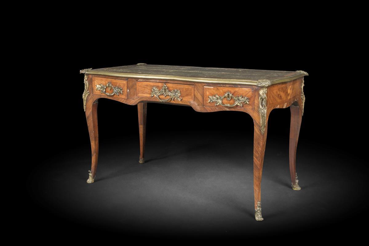 Bureau Plat Louis XV Period- Eighteenth Century
