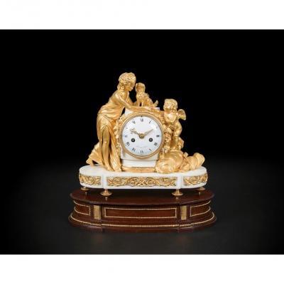 A Louis XVI Venus & Cupid Mantel Clock