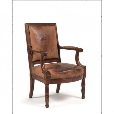 A Imperial Mahogany Armchairs From Le Palais Des Tuileries