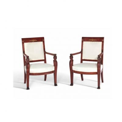 Pair Of Armchairs From The Consulate Period