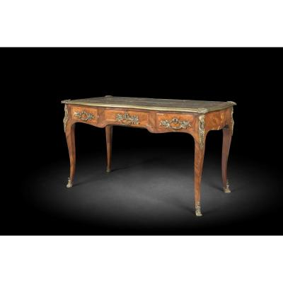 Bureau Plat Louis XV Period- Eighteenth Century