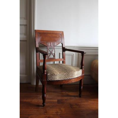 A Mahogany Jacob's Armchair Stamped Rue D Meslee