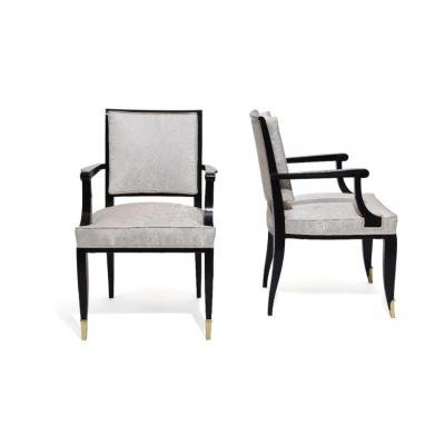 Pair Of Lacquered Armchairs