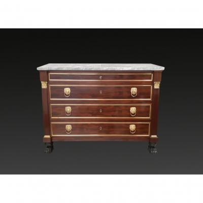 An Empire Period Mahogany Commode Attributed To Molitor