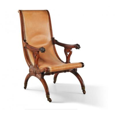 A Charles X  Mahogany Armchair   Stamped By Georges-alphonse Jacob Desmalter - Circa 1830
